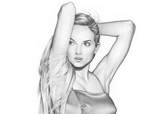 Рисунки рисованные девушки карандашом