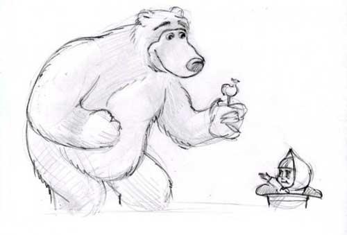 Картинки-мультяшки нарисованные карандашом