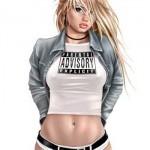 Нарисованные картинки девушек-блондинок