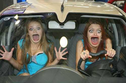 Смешные картинки - девушки за рулем