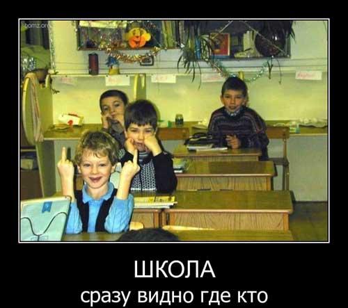 Демотиваторы про школу