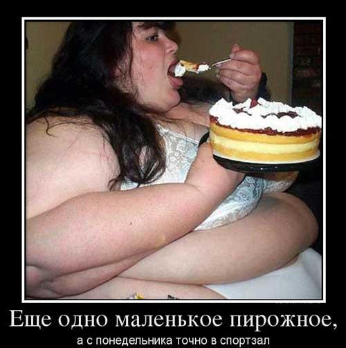 Демотиваторы про похудение и толстых