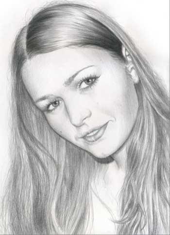 Красивые нарисованные карандашом девушки - Галерея лучших девушек.