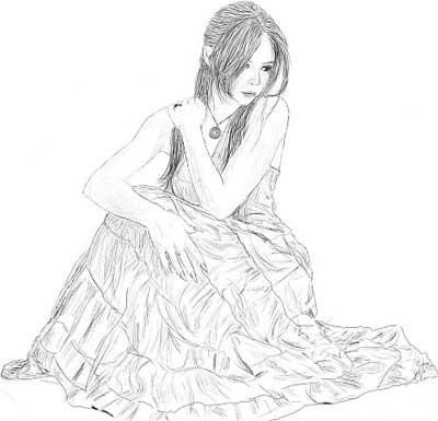 Прикольное черно белое фото девушки