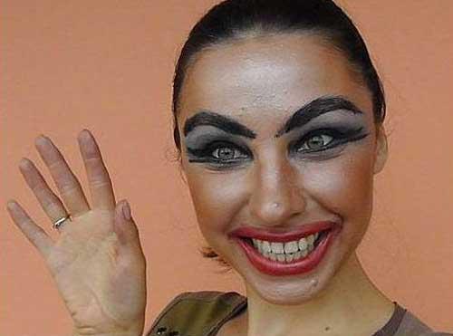 Смешные видео как правильно краситься