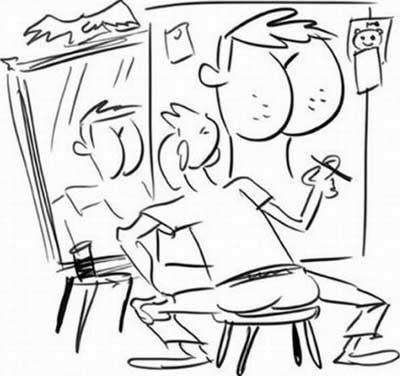 Рисунки карандашом - карикатуры