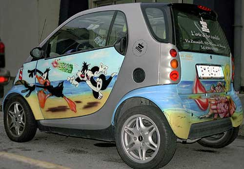 Рисунки на автомобилях - фото