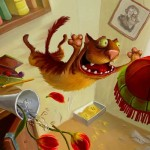 Смешные кошки — рисованные картинки