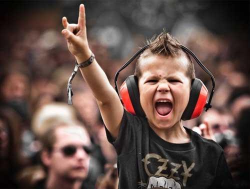 Дети и рок - картинки