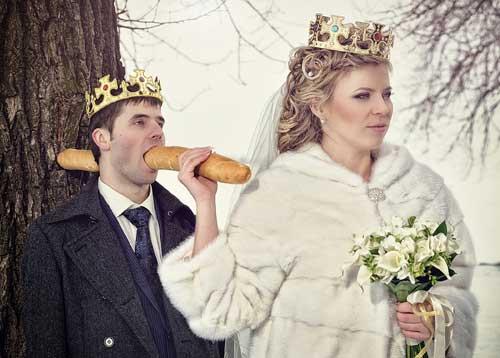 Смешные фото жениха и невесты