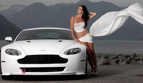 Девушки и авто - фото