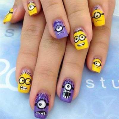 Рисунки смешные на ногтях