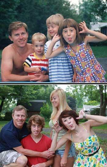 Фотографии через много лет