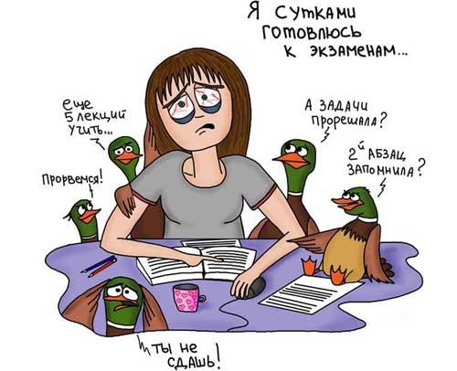 Прикольные картинки про экзамены