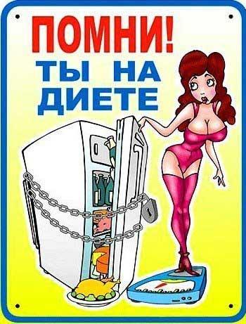 Мотиваторы для похудения на холодильник