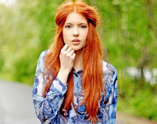 Фотки красивых рыжих девушек